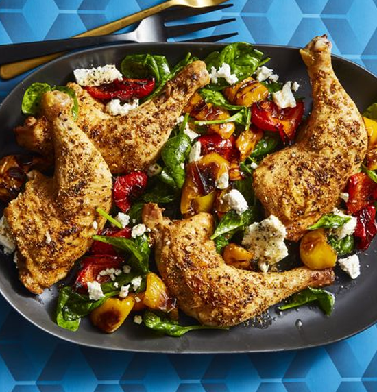 Fennel Roasted Chicken and Peppers